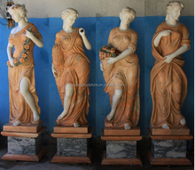 Hand Carved Life Size Marble Goddess of Four Seasons Garden Statues Item 098