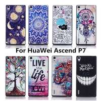 Luxury Painting PC High Quality Hard Cover Case For Huawei Ascend P7 Back Cases