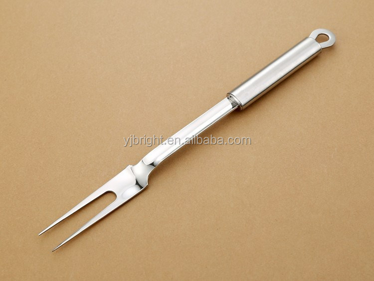 oval tube handle stainless steel meat fork