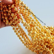 Gold Color 6.0mm Metal String Ball Chain Curtain For Room Divider