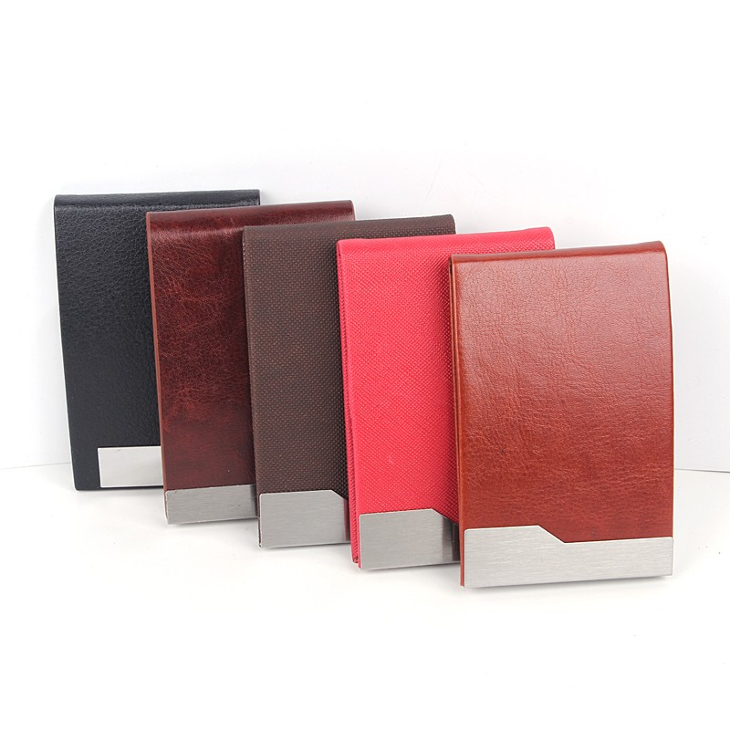 2016 Cheap Promotional Soft PU Leather Business Name Card Case with logo printing Credit Card Holder
