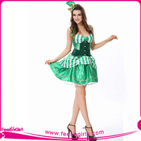 Green Striped Corset Doll Halloween Costume