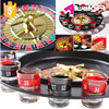 Wholesale 16 Shot Glass Spinning Wheel Drinking Roulette Game Set