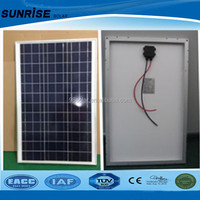 china factory Sunrise high quantity poly 60w solar panel with cheap price