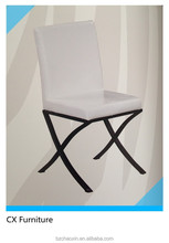 Hot sale metal tube popular cheap PU ding chair metal Dining Chair