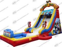 interesting cartoon theme water park inflatable water pool slide for sale