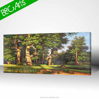 YF(7212) Living room decor big trees landscape wall art famous forest scenery painting