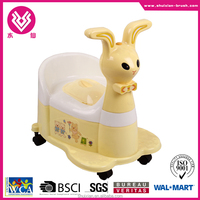 High quality animal shaped portable plastic injection baby toilet seat with music BN7202-1 Rabbit