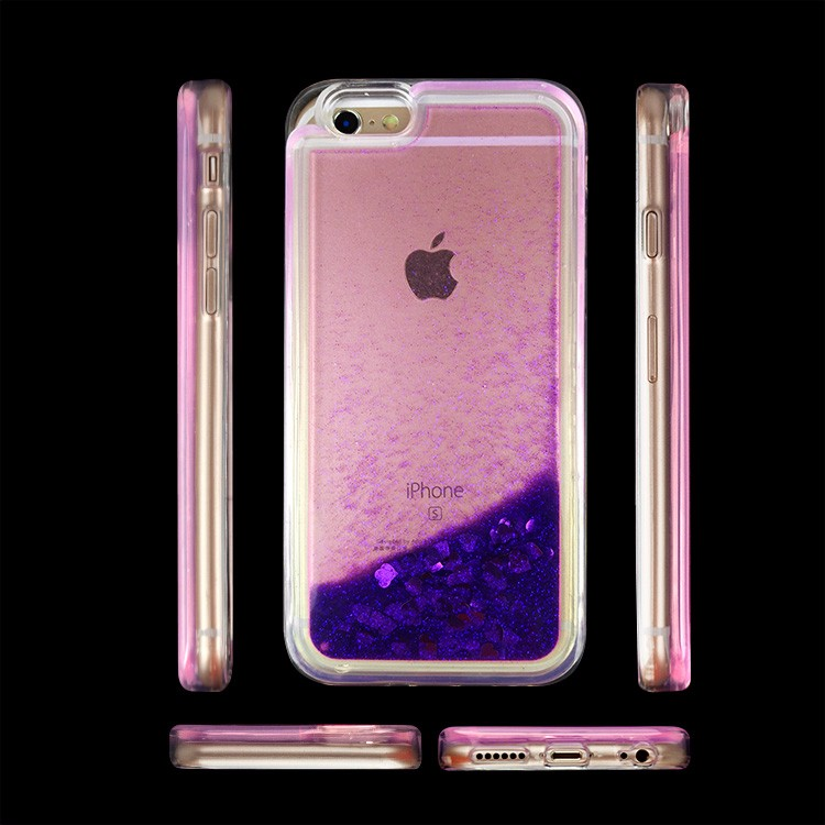 Latest Design Back Cover With Glitter Liquid TPU Cell Phone Case For iPhone 6 6s & Plus