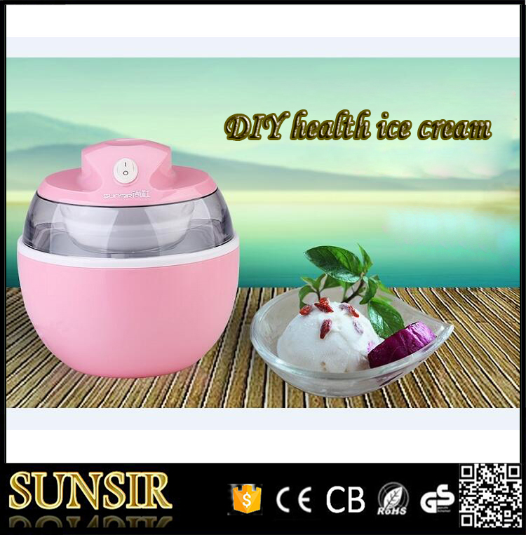 2017 New design Liquid cooling 0.6L DIY soft ice cream maker with aluminum bowl thailand 2