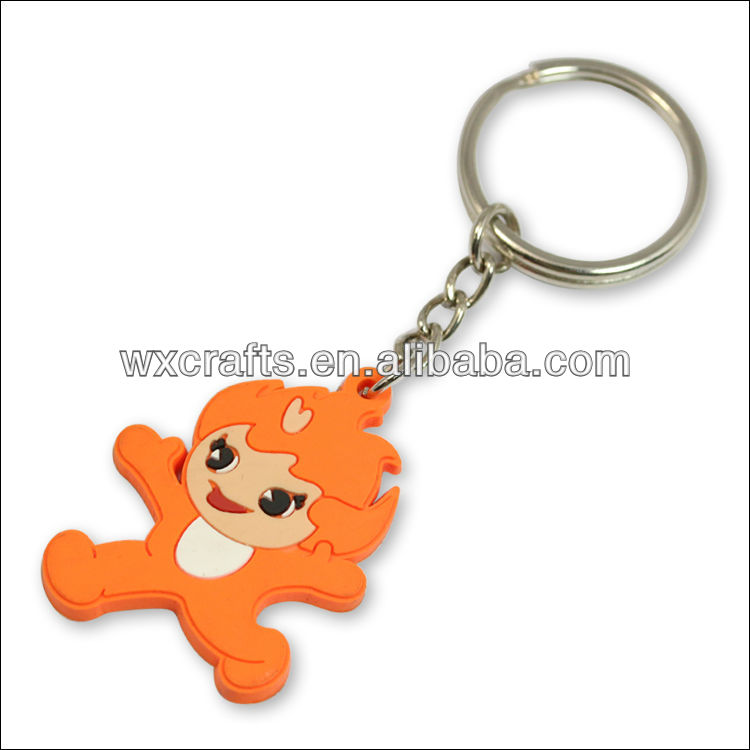 blank soft pvc keyrings Give aways gifts