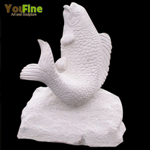 Hand Carving Marble Stone Fish Sculpture for Sale