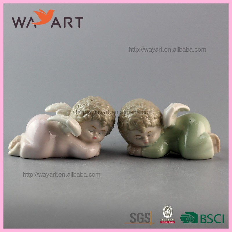 Trade Assurance Cute Baby Set Ceramic Little Angel Statues