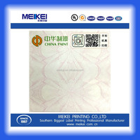 coated art paper digital printing self adhesive label sticker for custom painting with variable fiber and QR code