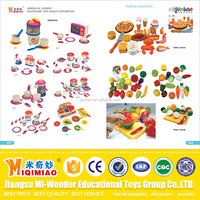 Safety material plastic educational toys vegetables and dinnerware for kids from China