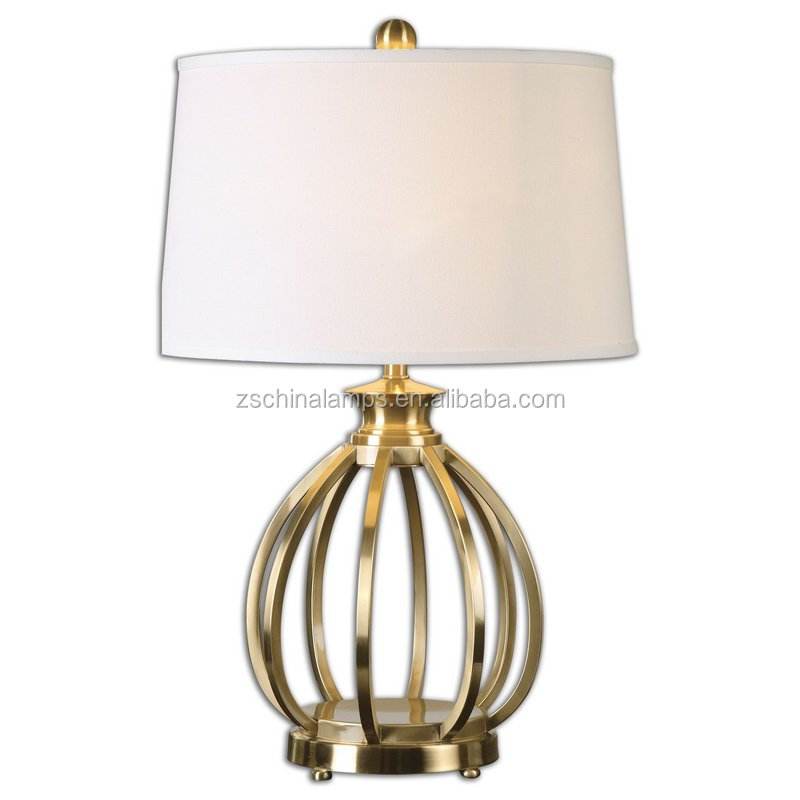 new design good quality electroplate chrome base table lamp made in Zhong shan
