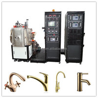 PLC control plasma coating equipment /Small pvd magnetron sputtering vacuum deposition coating machine