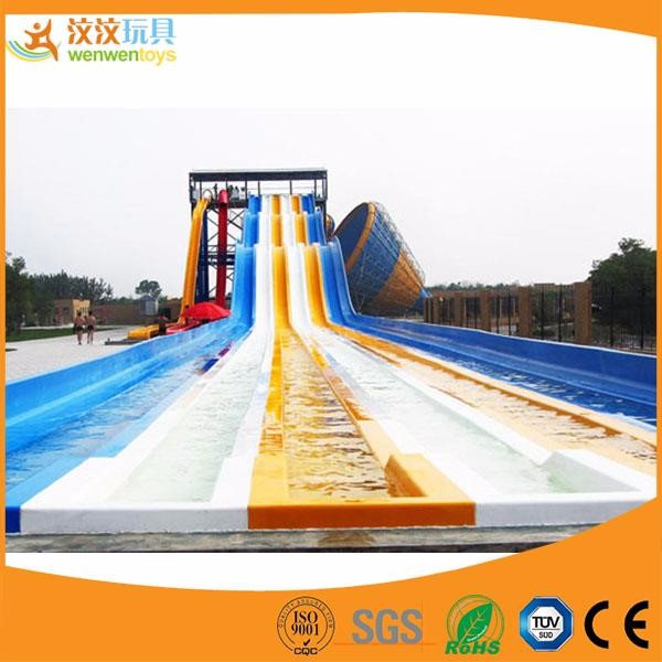 Outdoor adults fun water park fiberglass slide combination aquatic slide
