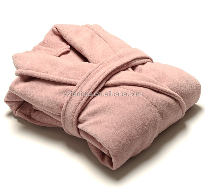 Wohlesale Polar Fleece Ankle Length Women bathrobe With Kotex Certification