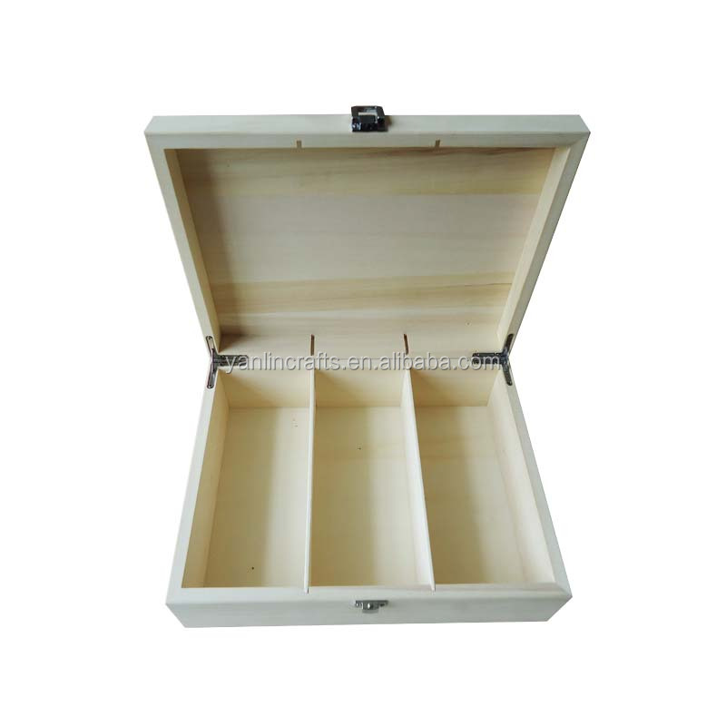 Unfinished white packaging handmade wooden storage boxes wholesale