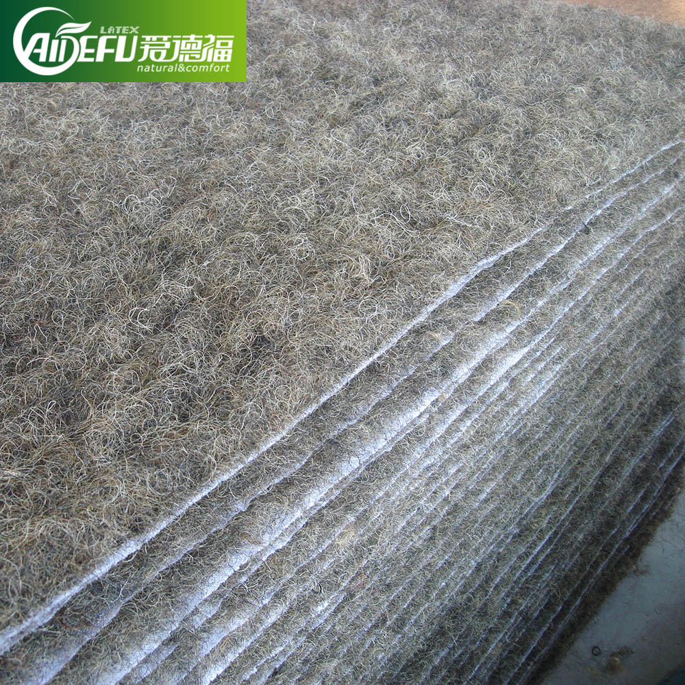 GOOD rubberized horse hair sheet mattress produced by China manufactory
