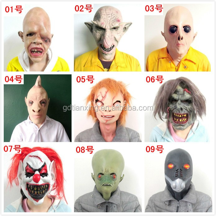 New Style Horror Cosplay Rubber Latex Adult Skull Mask Halloween Mask