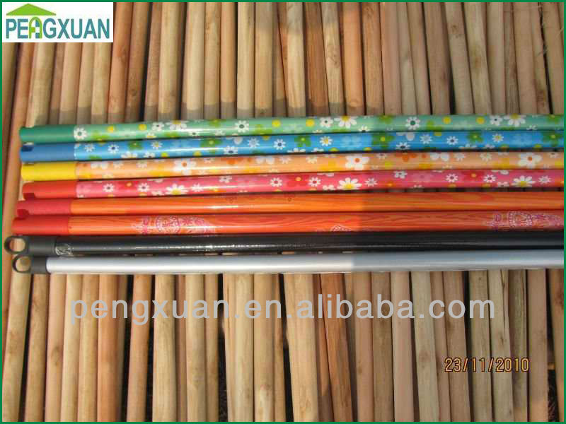 PVC coated wooden pole with different color/cable de madeira