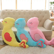 animal shaped kids pillow magpie plush toy