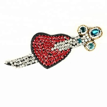 High Grade 3D Handmade Rhinestone Patches Sewing Accessories For Clothing, Lightning Star Heart Sequin Beaded Applique