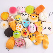 Jumbo/Mini Soft PU Foam Kawaii Squishy slow rising toy Squishy random 10pcs/20pcs toys