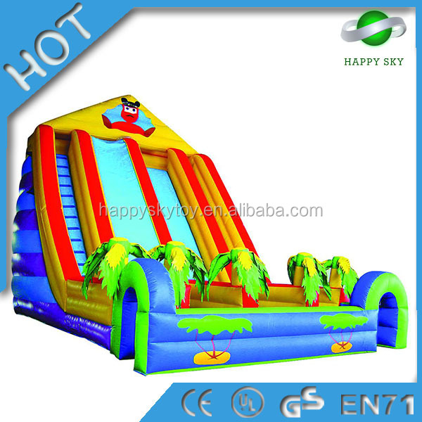 Large size inflatable water slide,inflatable obstacle double slide,inflatable jumping house with slide