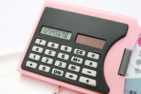 Cheap name card holder mini cute calculator mini slim card solar power pocket calculator