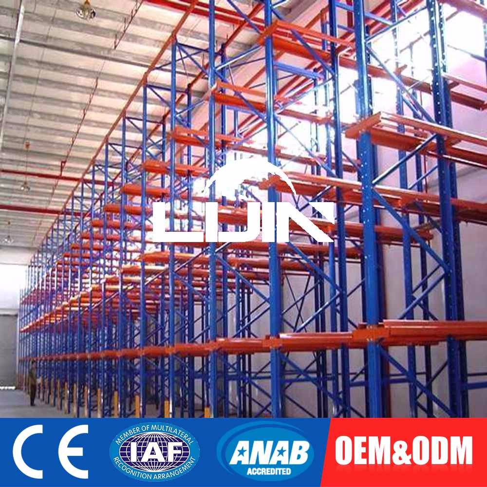 Exceptional Quality Custom Tag Commercial Store Shelving Pallet Sliding Rack Racking