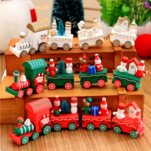 2018 creative craft product wood train toy christmas gift christmas ornament