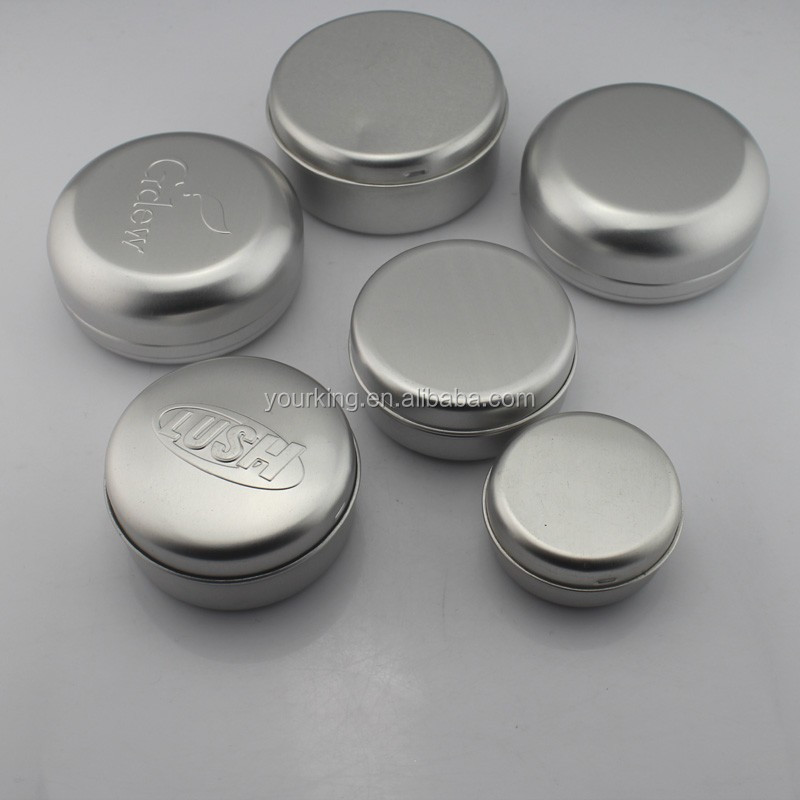 10ml- 250ml Round Aluminum Tin Jar With Lid Aluminum Soap Canister with slip -on Lid