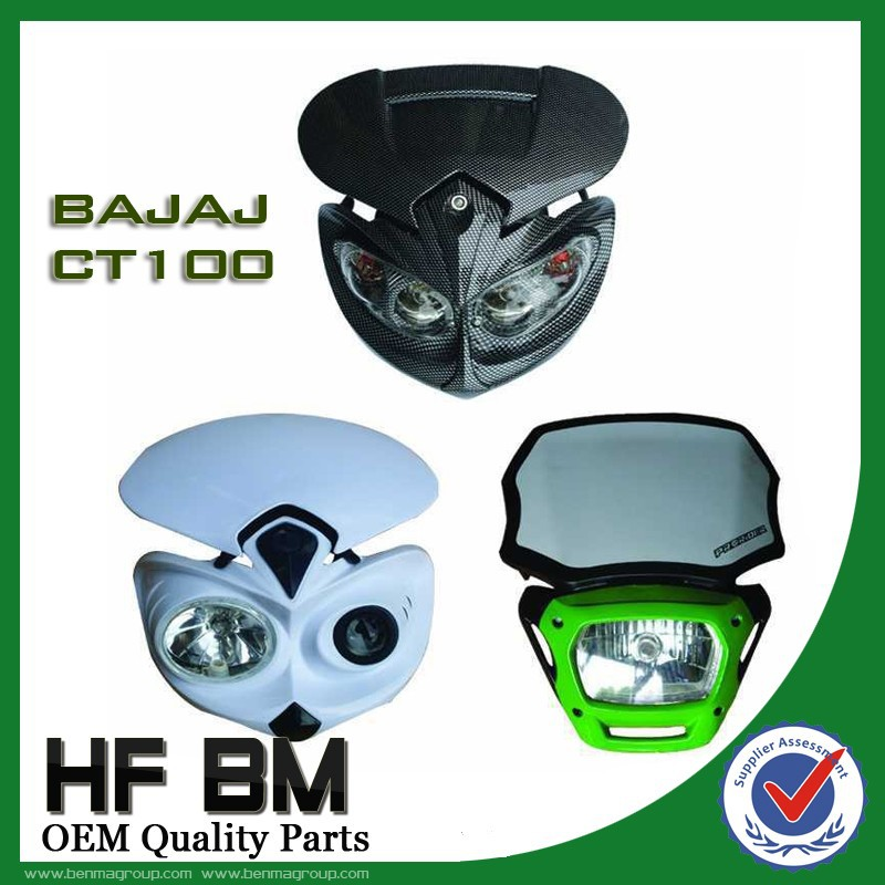 All Motorcycle LED Big Headlight With Protector Lens BAJAJ Series BOXER CT100