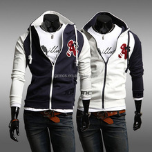wholesale embroidered zip up mens hooded sweatshirts