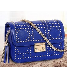 Fashion handbags 2016 new designer handbag lady studded bag small chain shoulder bag SY6342