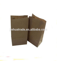 Factory Food Printed Plain Brown Kraft Paper Takeout Packaging Bags Wholesale