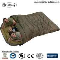 Family Camping Disposable Flannel Lined Sleeping Bag Manufacturer