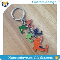 Custom animal shape fashion metal key chain