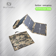 New Products Shenzhen Factory direct sale foldable solar panel 45W with 5V 12V 19V for charging Notebook