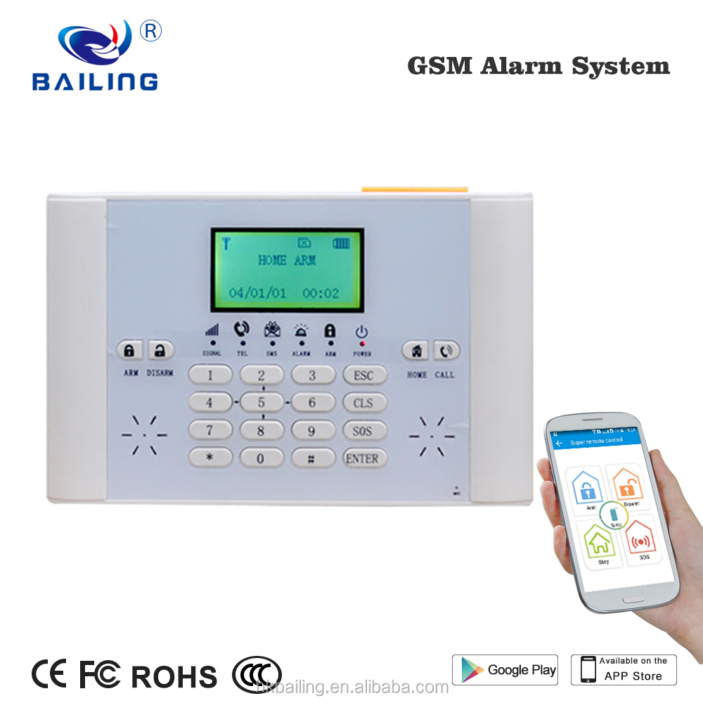 Support phone APP PC software centerHome security alarm system 6 wired 40 wireless GSM Alarm system smart home automation alarm