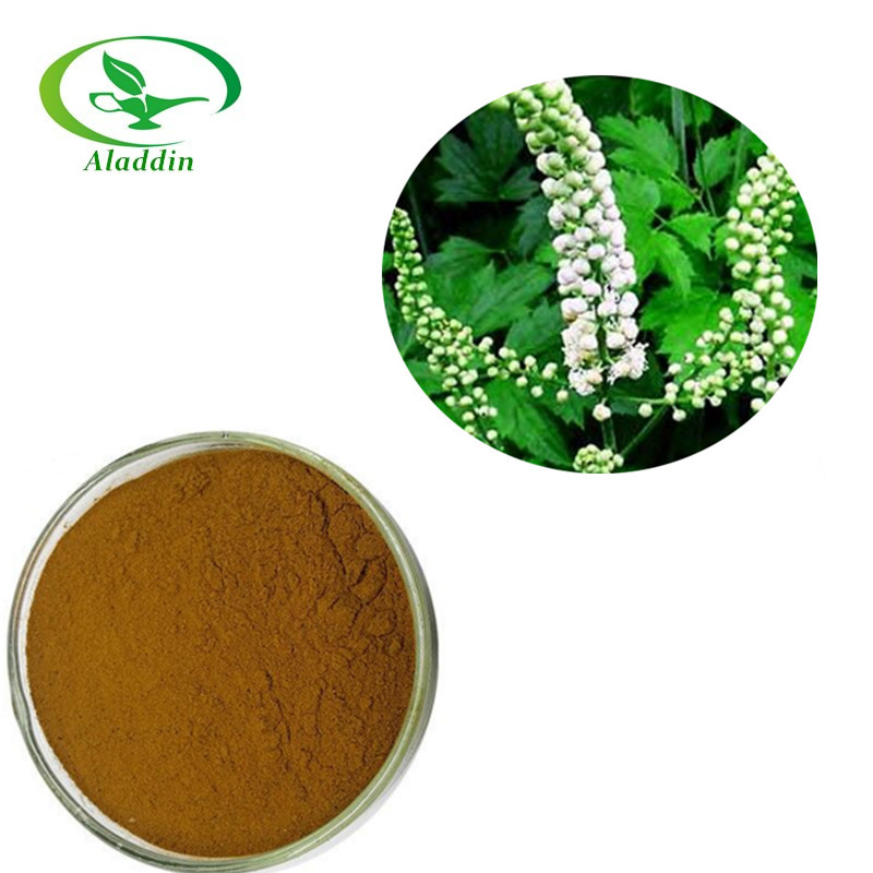 Factory Supply Black Cohosh Extract Powder 2.5% Triterpene Glycosides/Cimicifuga romose (L)Nutt.