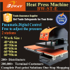 2 work stations pneumatic heat press digital textile printer