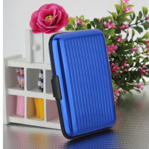 Fashion Aluminum Metal Wallet Business ID Credit Card Case Holder Anti Rifd Waterproof Box Anti RFID Scanning