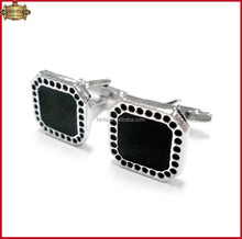 Cheap Price Base Metal Cufflinks with stone