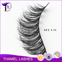 Hot selling thick double layered horse hair strip lashes