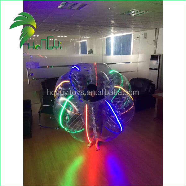 customized inflatable bumper ball with led light