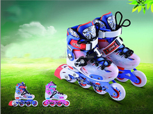2015 professional new design kids inline speed skates with flash light on pu wheels